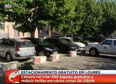 Loures cria 550 lugares de estacionamento gratuitos