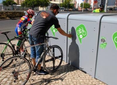 Novo parque de estacionamento gratuito para bicicletas